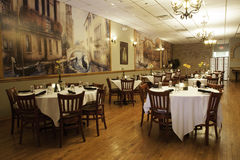 Italian Restaurant Interior - Main Dining Room Stock Image
