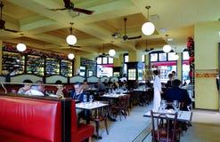 Italian restaurant. Interior of restaurant in Rome Royalty Free Stock Photo