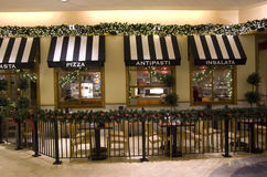 Italian restaurant in Mall. An restaurant with typical Italian restaurant decorations in Pacific Place, Seattle, USA Royalty Free Stock Image