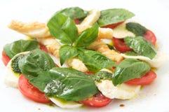 The italian restaurant menu capreze Royalty Free Stock Photography