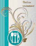 Italian Restaurant Menu cover Royalty Free Stock Images