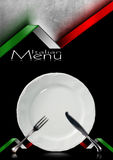 Italian Restaurant Menu Design Stock Image