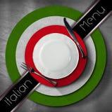 Italian Restaurant Menu Design Stock Images