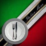 Italian Restaurant Menu Design Stock Image
