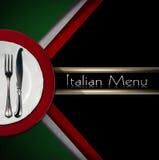 Italian Restaurant Menu Design Royalty Free Stock Photos