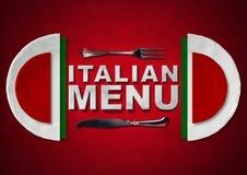 Italian Restaurant Menu Design Royalty Free Stock Photo
