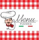 Italian restaurant menu Stock Photo