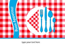 Italian restaurant placemat Royalty Free Stock Photography