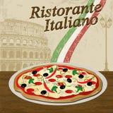Italian Restaurant poster Royalty Free Stock Photo