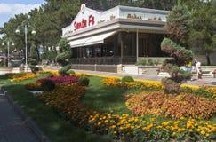Italian restaurant Santa Fe on the waterfront in the city of Gelendzhik, Krasnodar region, Russia Stock Photo