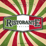 Italian Restaurant Stock Image