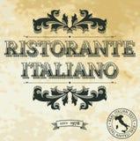 Italian Restaurant. Vintage Banner for Italian Restaurant Royalty Free Stock Images