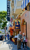 Italian restaurants along Columbus Avenue in San Francisco. Stock Photo