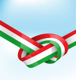 Italian ribbon  flag Stock Photography