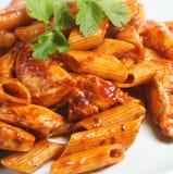 Italian Rigatoni Pasta Meal stock images