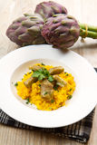 Italian risotto with artichok Royalty Free Stock Photo