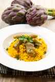 Italian risotto with artichoke Royalty Free Stock Images
