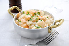 Italian Risotto with fish Stock Photo