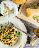Italian risotto with mushrooms Royalty Free Stock Photo