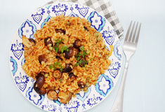 Italian risotto with mushrooms Royalty Free Stock Photography