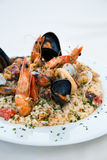 Italian risotto with shrimps, mussels, octopus, clams Royalty Free Stock Image