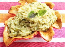 Italian Risotto with spinach Royalty Free Stock Image