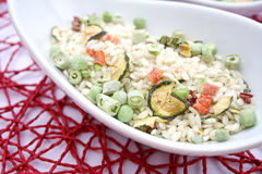 Italian Risotto with vegetables Royalty Free Stock Images