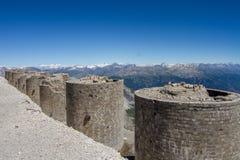 Italian riuned artillery turrets Royalty Free Stock Photo