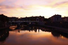 The Italian river, Tiber. Near Vatican Royalty Free Stock Photos