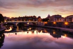 The Italian river, Tiber Stock Photography