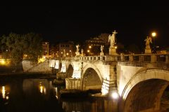 The Italian river, Tiber. The Italian river Tiber in Rome, Italy Royalty Free Stock Photography