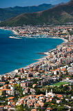 Italian Riviera. Ligurian coast near Borgio Verezzi Stock Photo