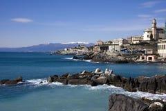 Italian Riviera. The coast around Genoa (Italian Riviera stock photos