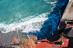 Italian Riviera backwash Stock Photography
