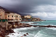 Italian Riviera coast Royalty Free Stock Photo