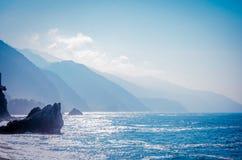 Italian Riviera Coast Stock Image