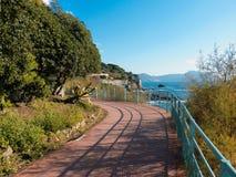 Italian Riviera promenade Royalty Free Stock Images