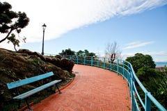 Italian Riviera promenade Stock Photography