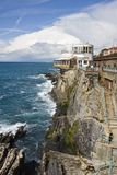 Italian riviera rocks Stock Photo