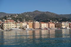 Italian Riviera. Seafront at the resort of Alassio Stock Image