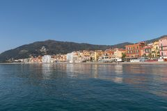 Italian Riviera. Seafront at the resort of Alassio Stock Photo