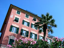 Italian Riviera typical house stock images