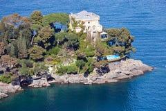 Italian Riviera Villa Stock Photos
