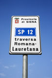 Italian Road Sign Royalty Free Stock Photo