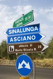 Italian road signs. Stock Photography