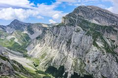 Italian Rocky Mountains - Gran Sasso d`Italia Appennnino Centrale royalty free stock photo