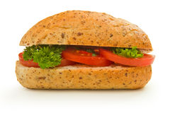 Italian roll with tomatoes and royalty free stock image
