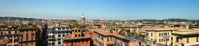 Italian Roof Rome. View of Rome from the top! just the roof! picture taken in june stock photos