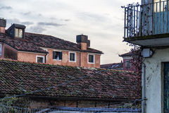 Italian Roofs. Detail of roofs in an italian town Royalty Free Stock Photo