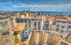Italian roofs by the sea Stock Photos